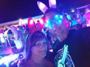 TomandBunny at the Glow party at Hedo Hedonism swinger lifestyle Resort in Jamaica