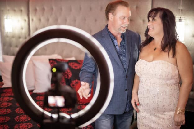 Tom and Bunny from TomandBunny,com producing video vlogs, podcast and blogs on the swinging lifestyle