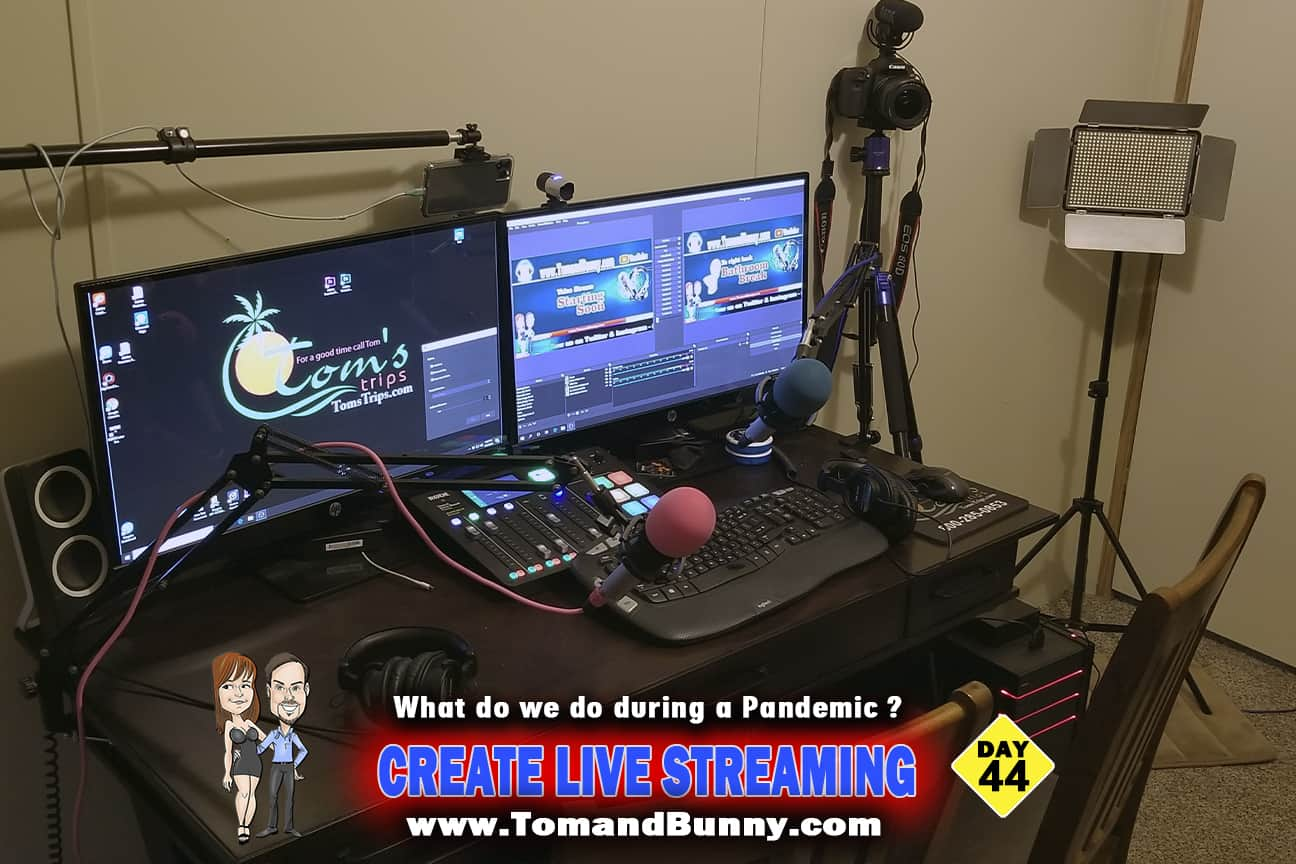 Day 44 - What do we do during a Pandemic - Create live Streaming